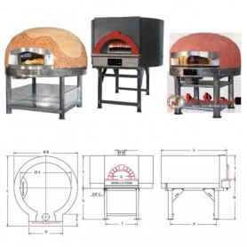 Cuptor pizza traditional pe gaz PG 100