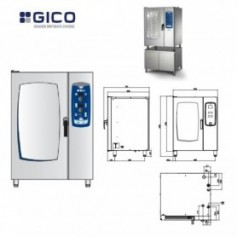 Cuptor convectomat electric GICO GLOBE EASY MIX 10+1 GN1/1