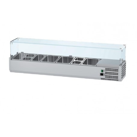 Vitrina refrigeranta ingrediente pizza 2500 mm