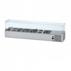 Vitrina refrigeranta ingrediente pizza 2000 mm GN 1/4
